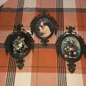Vintage ornate Italian picture frames